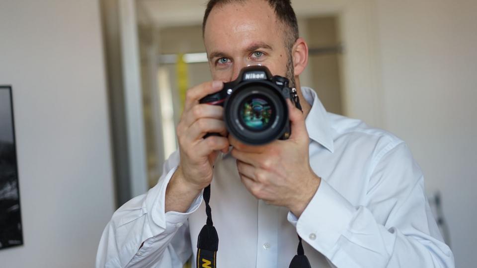 Vilém Veverka fotografující