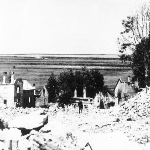 Lidice po zničení nacisty v roce 1942